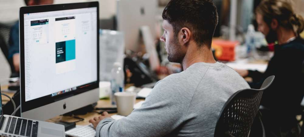 Man sitting in front of a computer Houzz