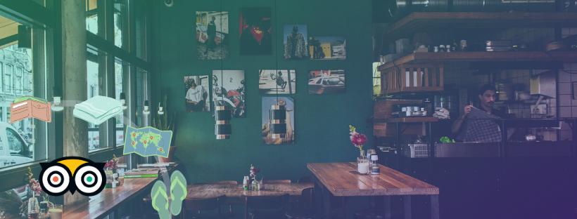 A coffee place with a TripAdvisor API logo over it